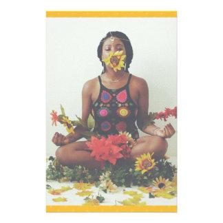 Papelería Diseño floral de la meditación de Sha Davis
