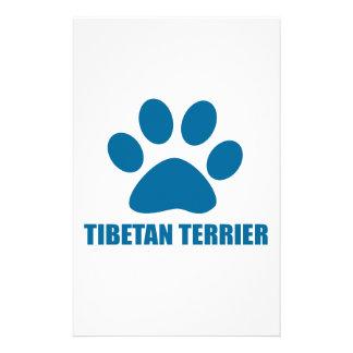 PAPELERÍA DISEÑOS DEL PERRO DE TERRIER TIBETANO