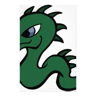 Papelería Dragón verde del bebé