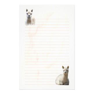 Papelería Efectos de escritorio alineados de la alpaca