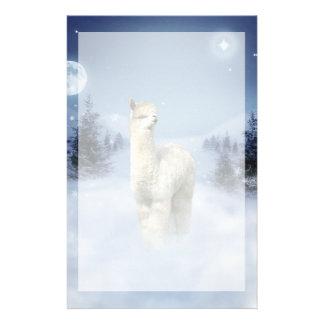 Papelería Efectos de escritorio de la alpaca de la noche del