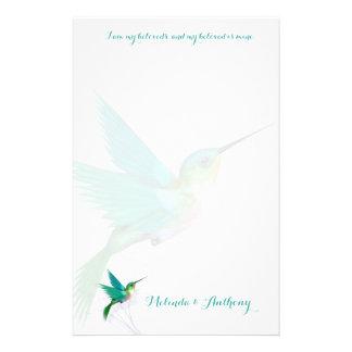 Papelería Efectos de escritorio del remolino del colibrí
