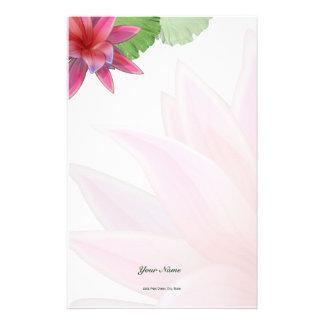 Papelería Efectos de escritorio rosados de Lotus