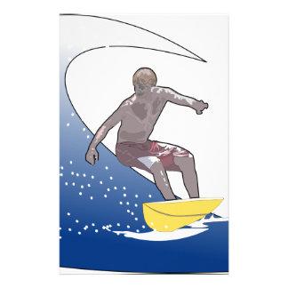 Papelería El practicar surf de la onda