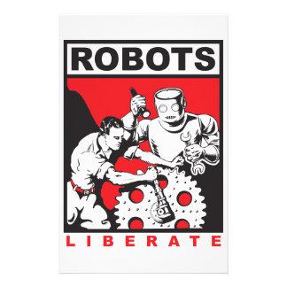 Papelería El robot le fija libre