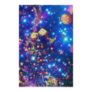 Papelería El universo y los planetas celebran vida con un