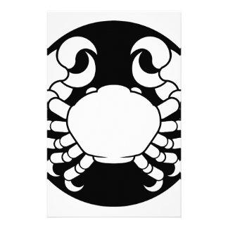 Papelería El zodiaco firma el cangrejo del cáncer