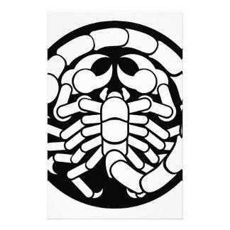 Papelería El zodiaco firma el icono del escorpión del