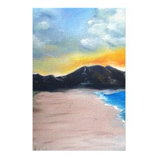 Papelería Escena pintada de la playa