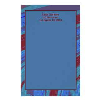 Papelería Extracto del chasquido del color de azul rojo