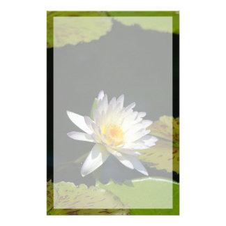Papelería Flor de Lotus blanco Waterlily