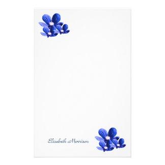 Papelería Flores azules bonitas