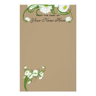 Papelería Flores blancas de la margarita de Gerber del