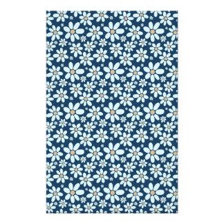 Papelería Flores en azul marino