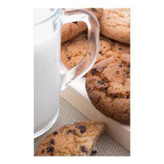 Papelería Galletas de la leche y de harina de avena con el