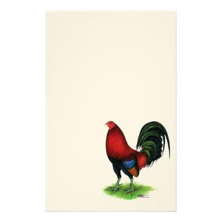 Papelería Gallo de pelea:  Rojo oscuro