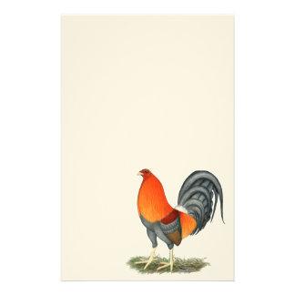 Papelería Gallo del rojo azul del gallo de pelea