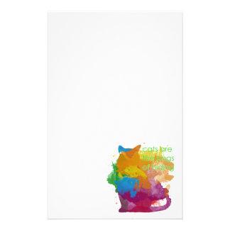 Papelería Gato del gatito de la pintura de la salpicadura