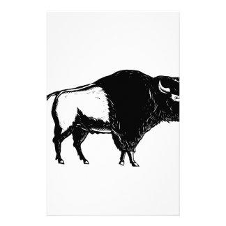 Papelería Grabar en madera americano del lado del búfalo
