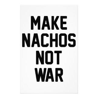 Papelería Haga la guerra de los Nachos no