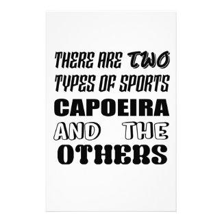 Papelería Hay dos tipos de deportes Capoeira y otros