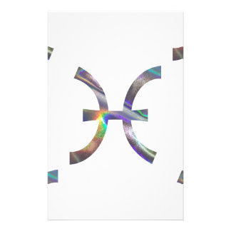 Papelería holograma Piscis