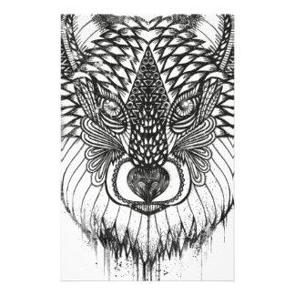 Papelería Ilustracion de la mandala del lobo