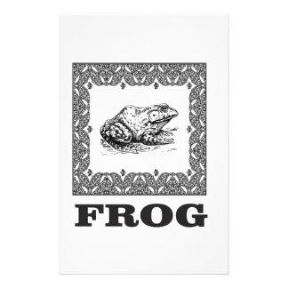 Papelería ilustraciones enmarcadas de la rana