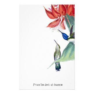Papelería La fauna de los pájaros del colibrí florece los