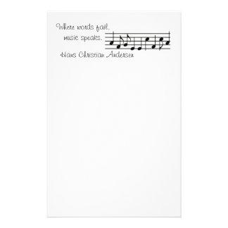 Papelería La música habla -- Efectos de escritorio