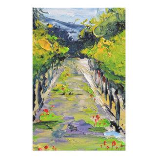 Papelería Lagar de California, vides del viñedo del verano