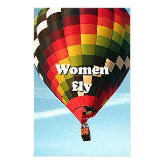 Papelería Las mujeres vuelan: globo del aire caliente
