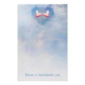 Papelería Los cerdos del vuelo Besar-Creen en amor increíble
