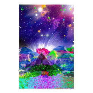 Papelería Los colores y las estrellas encienden para arriba