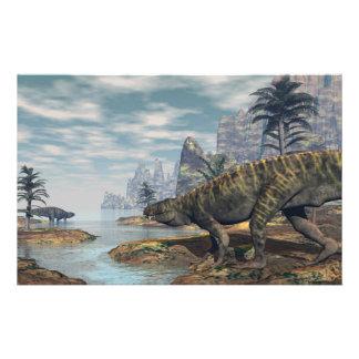 Papelería Los dinosaurios -3D de Batrachotomus rinden