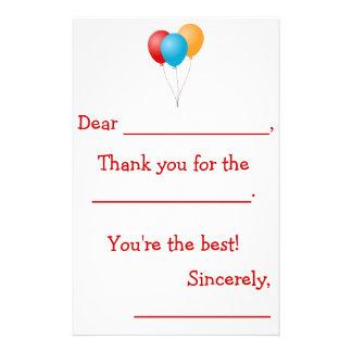 Papelería Los niños le agradecen las notas (dirigidas)