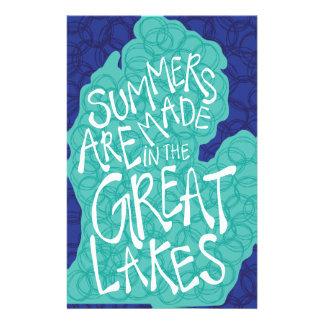 Papelería Los veranos se hacen en los Great Lakes - azul