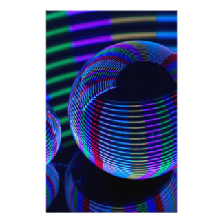 Papelería Luces espirales en el cristal
