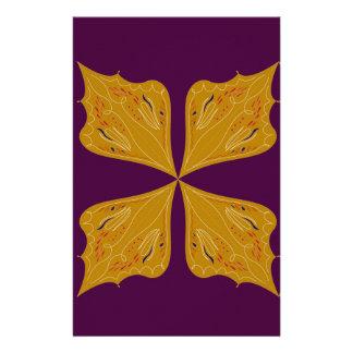Papelería Mandala del oro en el vino