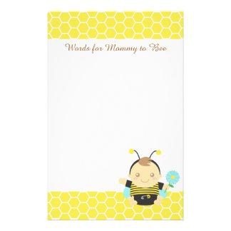 Papelería Manosee al bebé de la abeja, para que la mamá sea