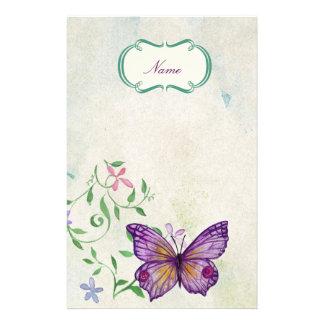 Papelería Mariposa del vintage floral
