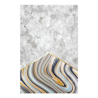 Papelería Mármol azul #177 de la flecha concreta