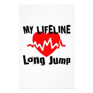Papelería Mi línea de vida salto de longitud se divierte