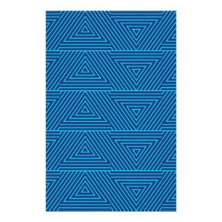Papelería modelo azul del triángulo