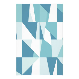 Papelería Modelo azul geométrico