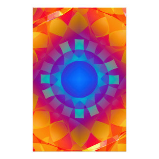 Papelería Modelo azul y anaranjado de Sun