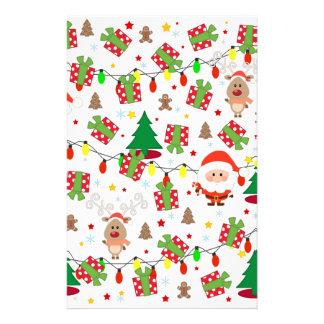 Papelería Modelo de Santa y de Rudolph