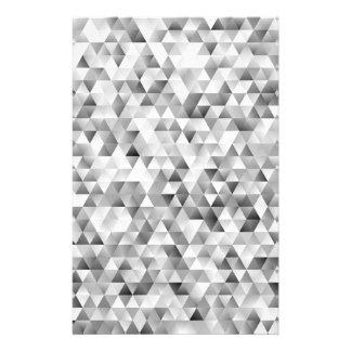 Papelería Modelo gris del triángulo