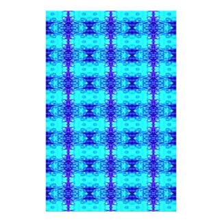 Papelería Modelo tribal azul de neón colorido del azul real