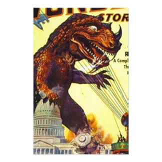 Papelería monstruo del lagarto gigante